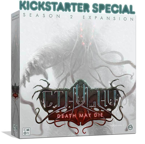Cthulhu Death May Die: Season 2 Expansion (Kickstarter Pre-Order Special) Board Game Geek, Kickstarter Games, Games, Kickstarter Board Games Expansions, Board Games Expansions, CMON Limited, Cthulhu Death May Die – Season 2 Expansion, The Games Steward, Cooperative Play Games, Rob Daviau CMON Limited