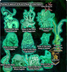 Cthulhu Wars: Glow In The Dark Miniatures Collection Bundle (CW-GL02) (Kickstarter Special) Kickstarter Board Game Supplement Petersen Games KS000210X