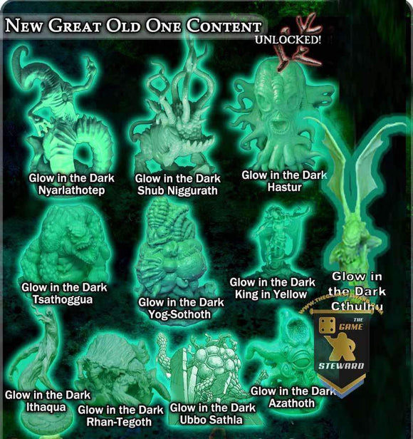 Cthulhu Wars: Glow In The Dark Miniatures Collection Bundle (Kickstarter Special) Kickstarter Board Game Supplement Arclight