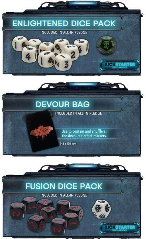 Deep Madness: Dice and Bag Bundle (Kickstarter Special) Kickstarter Board Game Accessory Diemension Games KS000001N