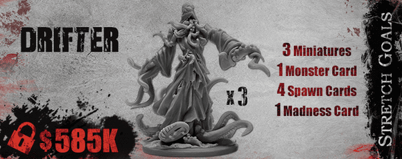 Deep Madness: Drifter King Epic Monster (Kickstarter Pre-Order Special) Kickstarter Board Game Supplement Diemension Games