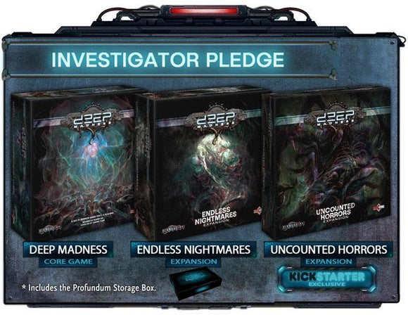 Deep Madness Investigator Pledge Second Printing (Kickstarter Pre-Order Special) Kickstarter Board Game Diemension Games