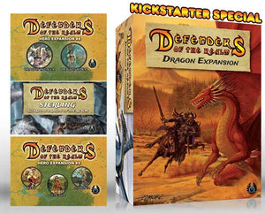 "Defenders of the Realm: ""Dragon Slayer"" Pledge (Kickstarter Special) Kickstarter Board Game Expansion Eagle-Gryphon Games"