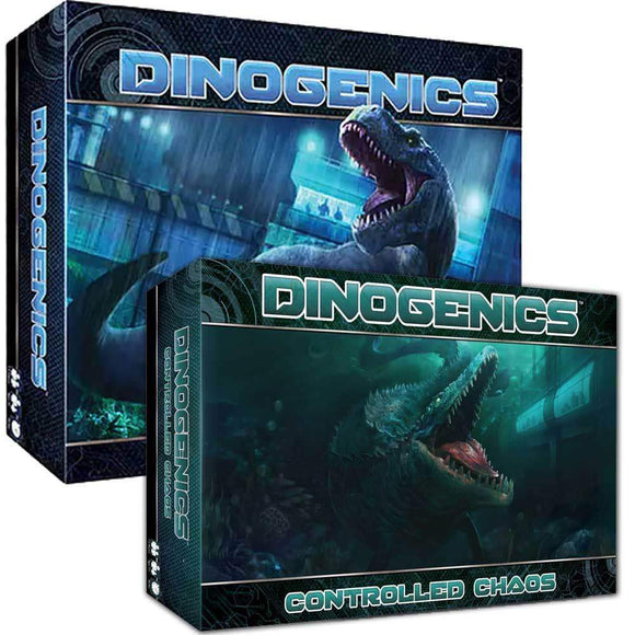 DinoGenics Plus DinoGenics Controlled Chaos Expansion Pledge Bundle (Kickstarter Pre-Order Special) Kickstarter Board Game Ninth Haven Games