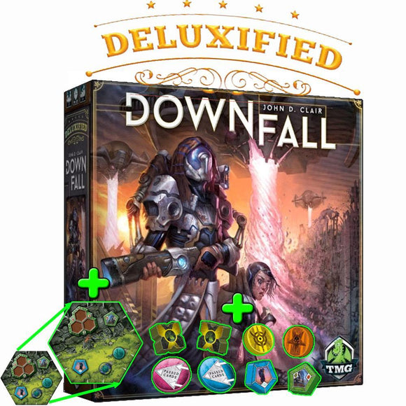 Downfall: Deluxified Edition Plus Big Map (Kickstarter Pre-Order Special) Kickstarter Board Game Tasty Minstrel Games