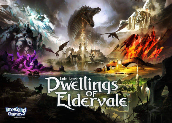 Dwellings of Eldervale: Legendary Edition Bundle (Kickstarter Pre-Order Special) Board Game Geek, Kickstarter Games, Games, Kickstarter Board Games, Board Games, Breaking Games, Dwellings of Eldervale, The Games Steward Kickstarter Edition Shop, Area Majority Influence, Dice Rolling Breaking Games