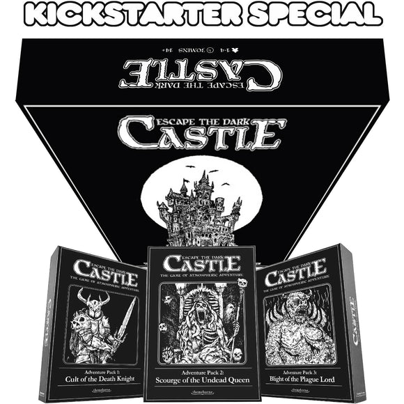 Escape the Dark Castle Level 6 Pledge Bundle (Kickstarter Pre-Order Special) Board Game Geek, Kickstarter Games, Games, Kickstarter Board Games, Board Games, Themeborne Ltd, Escape the Dark Castle, The Games Steward, Co operative Play, Dice Rolling Themeborne Ltd