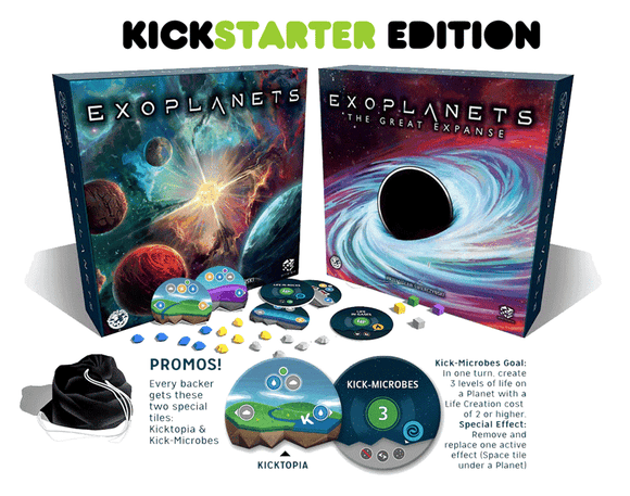 Exoplanets plus Promos and Expansions Bundle (Kickstarter Special) Kickstarter Board Game Board&Dice