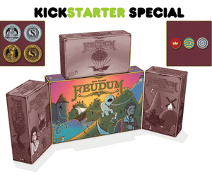 Feudum Big Box with 3 Expansions PLUS Metal Coins and Deluxe Tokens with Foil Box Bundle (Kickstarter Special) Kickstarter Board Game Odd Bird Games