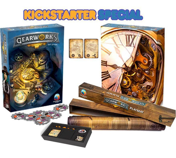 Gearworks: Deluxe Edition Plus Play Mat Bundle (Kickstarter Special) Board Game Geek, Kickstarter Games, Games, Kickstarter Board Games, Board Games, PieceKeeper Games, Gearworks, The Games Steward, Area Control Area Influence, Hand Management PieceKeeper Games