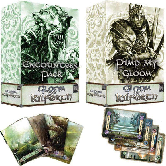 Gloom of Kilforth Encounter and Pimp My Gloom Expansions Bundle (Kickstarter Pre-Order Special) Kickstarter Board Game Expansion Hall or Nothing Productions