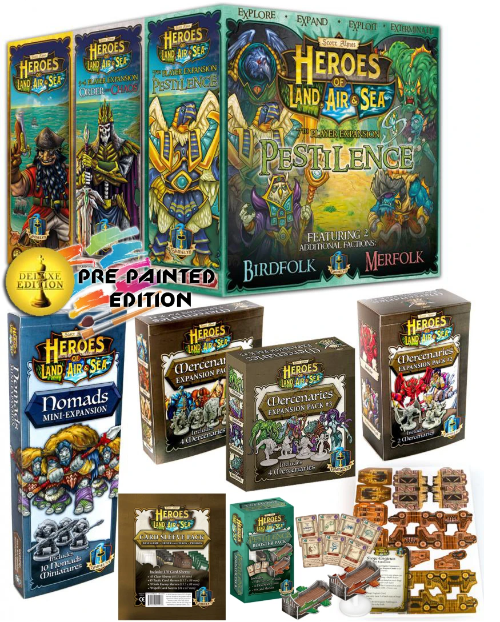 Heroes of Land, Air & Sea Plus Playmat Pre-Painted Everything Pledge Bundle (Kickstarter Special) Kickstarter Board Game Gamelyn Games KS000980A