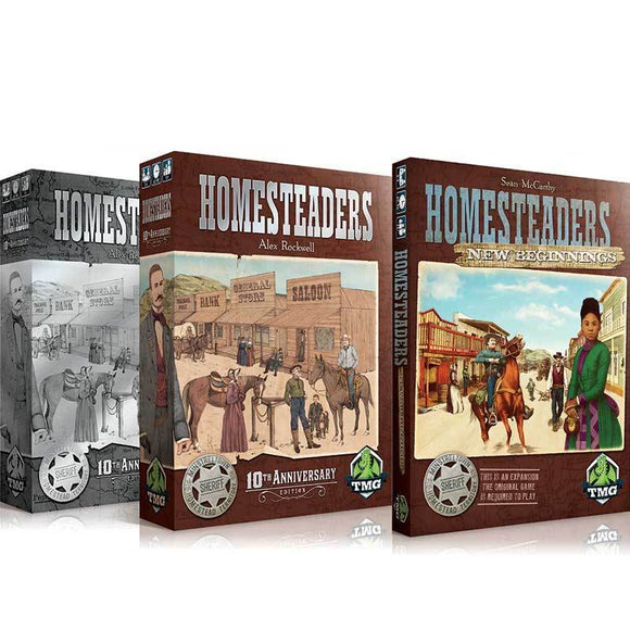Homesteaders 10th Anniversary Edition plus New Beginnings Expansion (Kickstarter Special) Kickstarter Board Game Tasty Minstrel Games KS000847A
