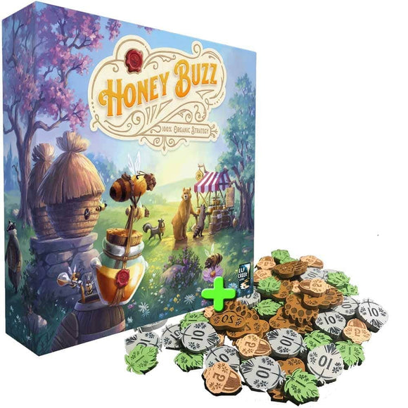 Honey Buzz Deluxe Edition Plus Wooden Coins Bundle Ding&Dent (Kickstarter Special) Kickstarter Board Game Elf Creek Games KS001005B
