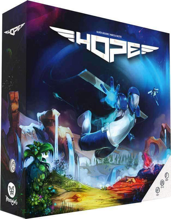 HOPE - The Board Game (Kickstarter Special) (Ding & Dent) Kickstarter Board Game Morning