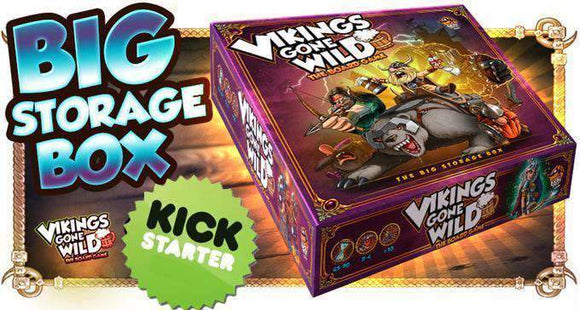 Kickstarter Vikings Gone Wild: Big Storage Box (Kickstarter Special) Kickstarter Board Game Accessory Corax Games