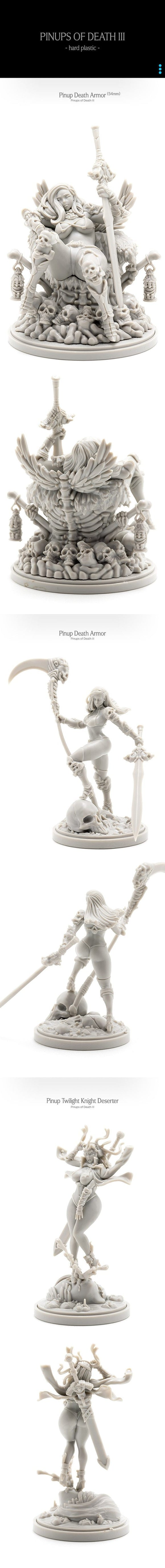 Kingdom Death Monster: Pinups of Death III (Kickstarter Pre-Order Special) Kickstarter Board Game Supplement Kingdom Death KS000872A