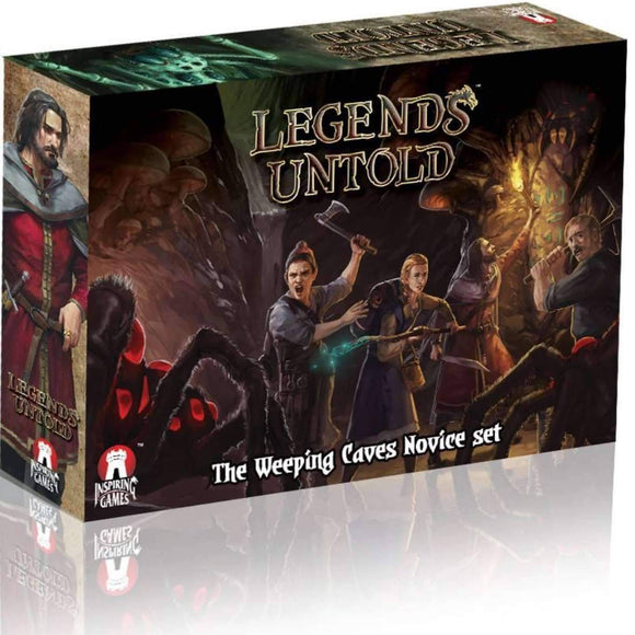 Legends Untold: The Weeping Caves Novice Set Ding & Dent (Kickstarter Special) Kickstarter Board Game Inspiring Games