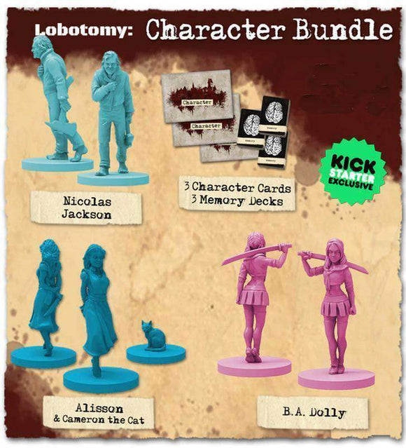 Lobotomy: Character Bundle (Kickstarter Special) Kickstarter Board Game Expansion Titan Forge Games