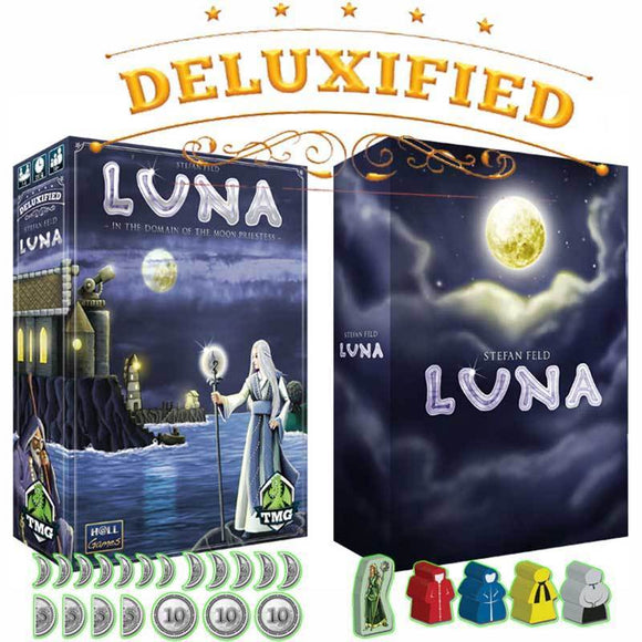 Luna Deluxified Plus Metal Coins (Kickstarter Pre-Order Special) Kickstarter Board Game Hall Games