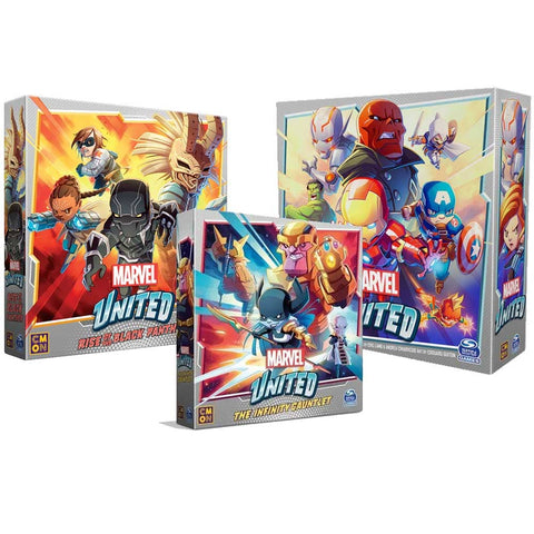 Marvel United Infinity Pledge with Infinity Gauntlet and Black Panther (Kickstarter Pre-Order Special) Kickstarter Board Game CMON KS000985B