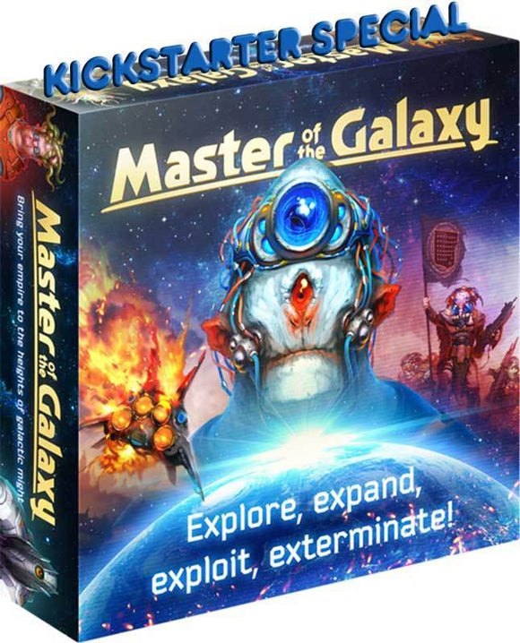 Master of the Galaxy: Deluxe Edition Spacefarer Pledge plus Faster Than Light Expansion (Kickstarter Pre-Order Special) Kickstarter Board Game Ares Games Igrology