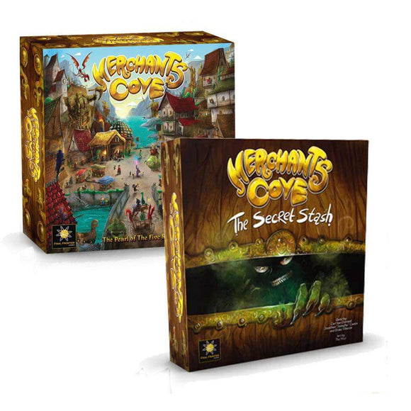 Merchants Cove Plus Secret Stash Expansion Bundle (Kickstarter Pre-Order Special) Kickstarter Board Game Final Frontier Games