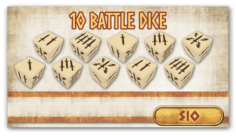 Mythic Battles Pantheon 1.5: 10 Battle Dice (MBP18) Retail Board Game Accessory Monolith Mythic Games KS000623F