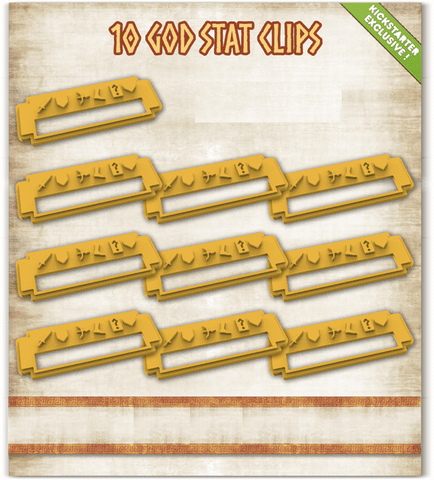 Mythic Battles Pantheon: 10 God Stat Clips (MBP20) (Kickstarter Special) Kickstarter Board Game Accessory Monolith KS000623L