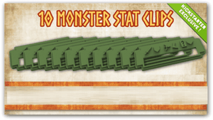 Mythic Battles Pantheon: 10 Monster Stat Clips (MBP21) (Kickstarter Special) Kickstarter Board Game Accesory Monolith