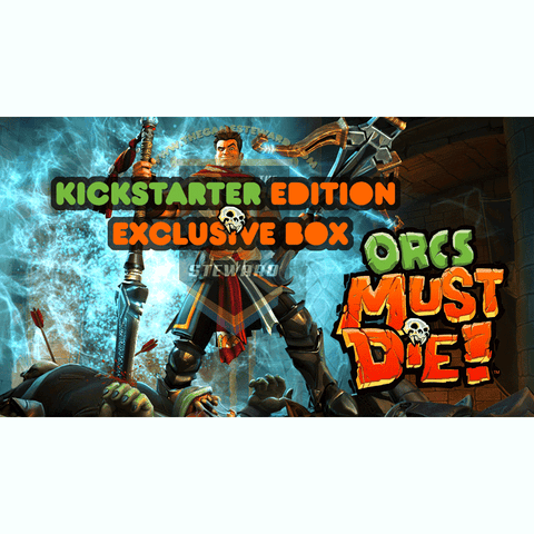 Orcs Must Die! Exclusive Box (Kickstarter Special) Kickstarter Board Game Green Eye Games 0680569977885 KS000316E