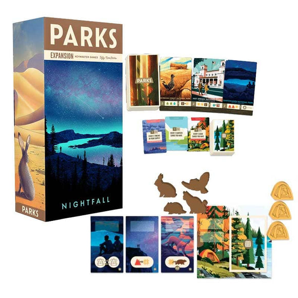 PARKS: Nightfall Bundle (Kickstarter Pre-Order Special) Kickstarter Board Game Expansion Keymaster Games KS000956D
