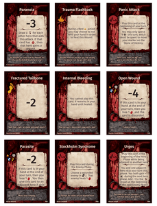 Perdition's Mouth: Wound Deck Retail Board Game Supplement Dragon Dawn Productions