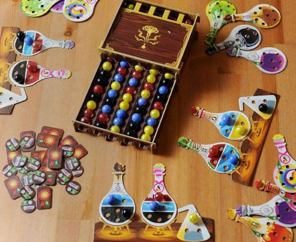 Potion Explosion Retail Board Game Horrible Games 999 Games ADC Blackfire Entertainment CMON Limited Edge Entertainment Galapagos Jogos Ghenos Games Heidelberger Spieleverlag InterHit Rebel Swan Panasia Co Ltd