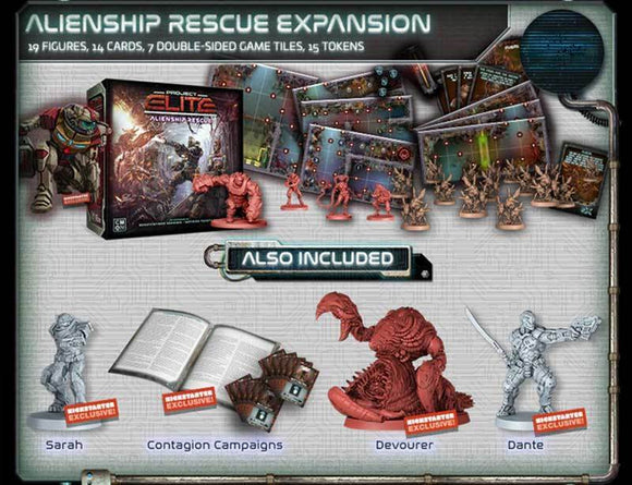 Project ELITE: Alienship Rescue Expansion (Kickstarter Pre-Order Special) Kickstarter Board Game Expansion CMON Limited