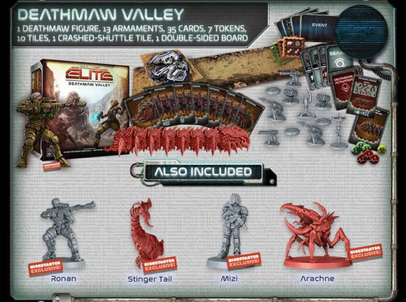 Project ELITE: Deathmaw Valley Expansion (Kickstarter Pre-Order Special) Kickstarter Board Game Expansion CMON Limited