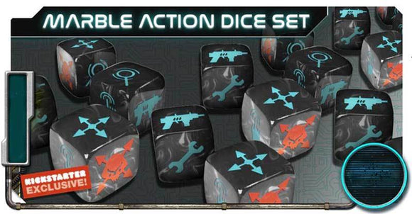 Project ELITE: Marble Action Dice (Kickstarter Pre-Order Special) Kickstarter Board Game Accessory Artipia Games KS000907F