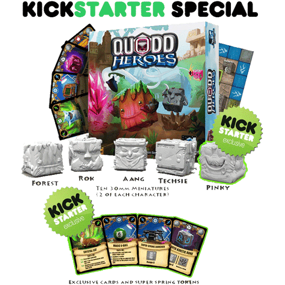 Quodd Heroes - Hero Pledge (Kickstarter Special) Kickstarter Board Game Wonderment Games KS000626