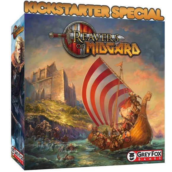 Reavers of Midgard: Core Game (Kickstarter Pre-Order Special) Kickstarter Board Game Grey Fox Games KS000934A