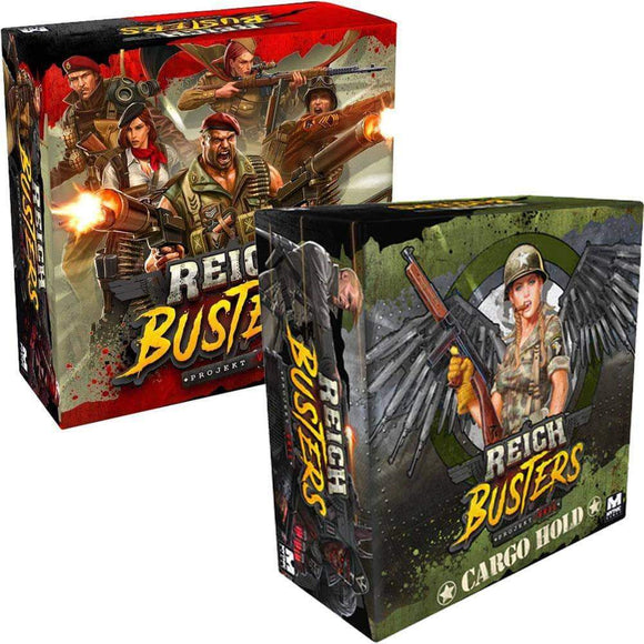Reichbusters Project Vril: Heroic Pledge Bundle (Kickstarter Pre-Order Special) Board Game Geek, Kickstarter Games, Games, Kickstarter Board Games, Board Games, Mythic Games, Reichbusters Projekt Vril, The Games Steward Kickstarter Edition Shop, Area Movement, Cooperative Games Mythic Games
