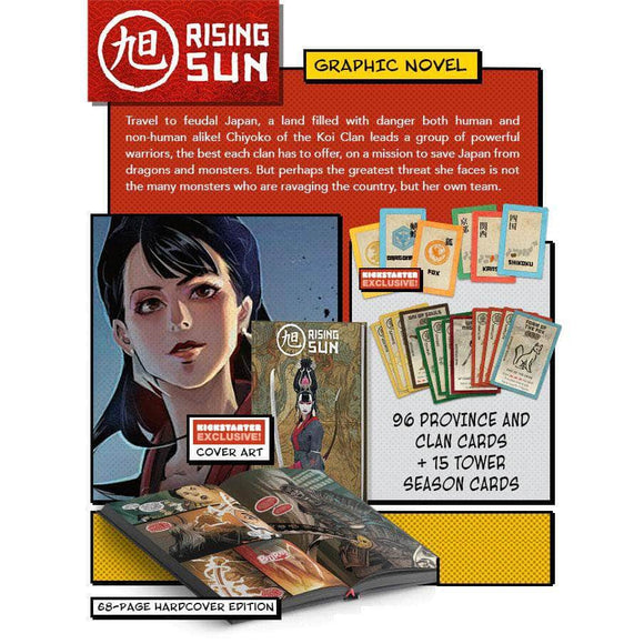 Rising Sun Comic Book Plus Promos Bundle (Kickstarter Pre-Order Special) Kickstarter Board Game Accessory CMON KS000665A