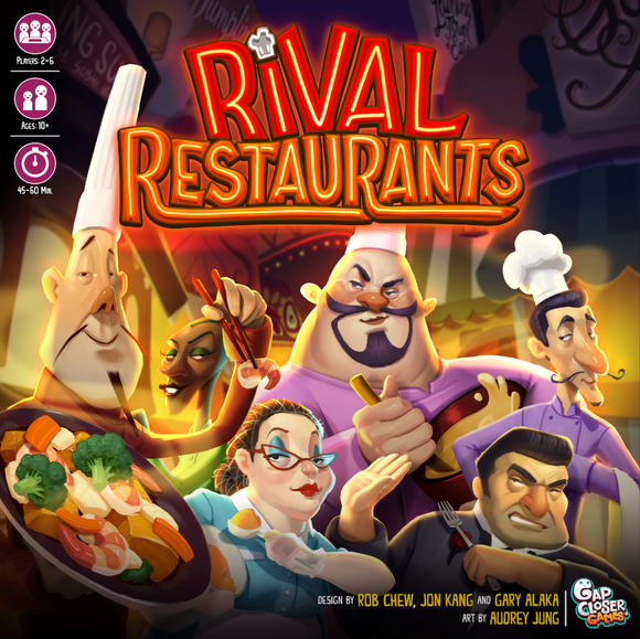 Rival Restaurants: Gourmet Bundle Pledge (Kickstarter Pre-Order Special) Kickstarter Board Game Gap Closer Games KS001015A