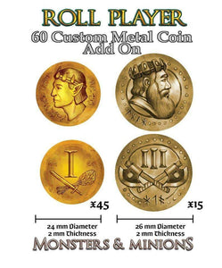 Roll Player: Metal Coins (Kickstarter Special) Kickstarter Board Game Accessory Thunderworks Games