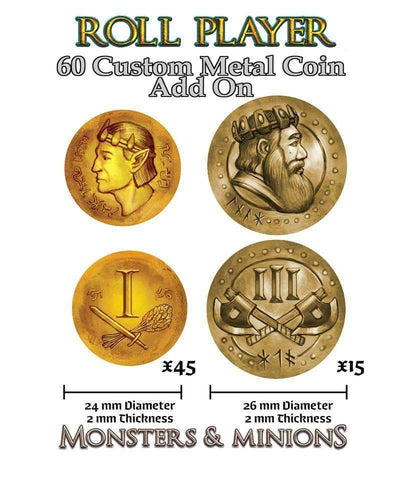 Roll Player: Metal Coins (Kickstarter Special) Kickstarter Board Game Accessory Thunderworks Games KS000661