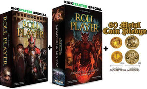 Roll Player, Monsters & Minions Expansion, plus Promo Card and Metal Coins Bundle (Kickstarter Special) Kickstarter Board Game Thunderworks Games