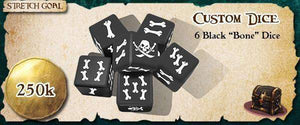 Rum & Bones - Custom Dice (Black) (Kickstarter Special) Kickstarter Board Game Accessory The Game Steward