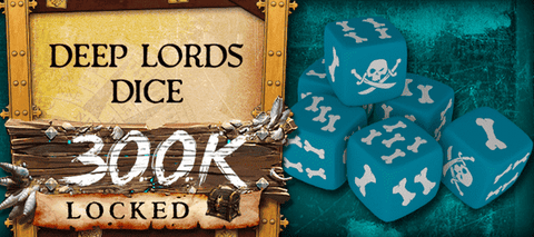 Rum & Bones - Custom Dice (Deep Lords) (Kickstarter Special) Kickstarter Board Game Accessory CMON Limited, Edge Entertainment, and Pendragon Game Studio 0889696004970 KS000121O