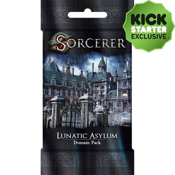 Sorcerer: Lunatic Asylum Domain Pack (Kickstarter Pre-Order Special) Card Game Geek, Kickstarter Games, Games, Kickstarter Card Games Supplements, Card Games Supplements, White Wizard Games, Sorcerer Lunatic Asylum Domain Pack, The Games Steward Kickstarter Edition Shop, Action Points, Card Drafting White Wizard Games