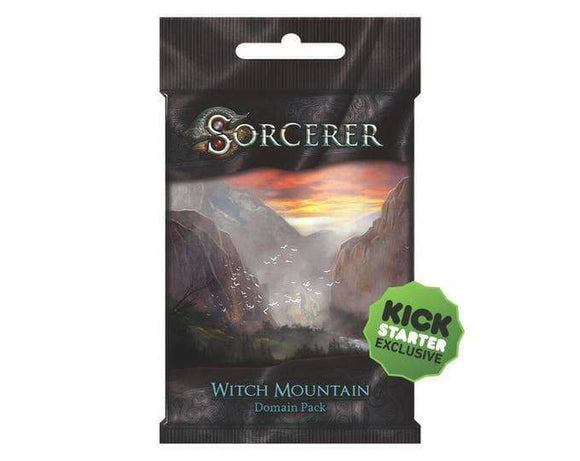 Sorcerer: Witch Mountain Domain Pack (Kickstarter Pre-Order Special) Card Game Geek, Kickstarter Games, Games, Kickstarter Card Games Supplements, Card Games Supplements, White Wizard Games, Sorcerer Witch Mountain Domain Pack, The Games Steward Kickstarter Edition Shop, Action Points, Card Drafting White Wizard Games