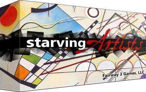 Starving Artists Plus Custom Play Mat (Kickstarter Special) Kickstarter Board Game Fairway 3 Games